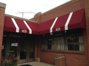 Culver Academy Canopy Awning with Stripes