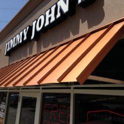 Jimmy John's Metal Standing Seam Side