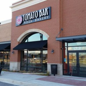 Beautiful Industrial Canvas Awning for Tomato Bar