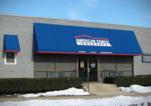 American Family Insurance Printed on Canvas Awning Canopy