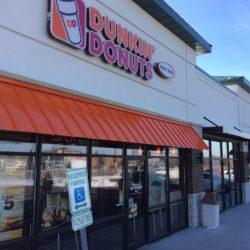 Dunkin Donuts Metal Awning