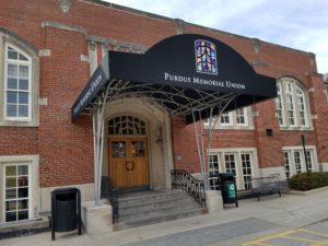 Purdue Memorial Union Entrance Canvas Canopy