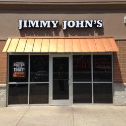 Front of Jimmy John's Metal Standing Seam