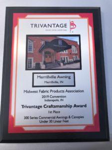 Trivantage Craftsmanship Award for Merrillville Awning Project