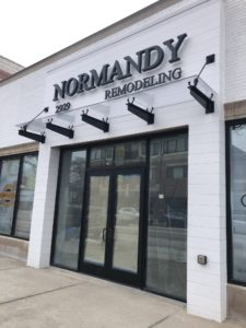 Glass Entrance Canopy at Normandy Remodeling