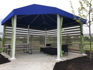Poolside Canvas Resort Cabanas at YMCA Project