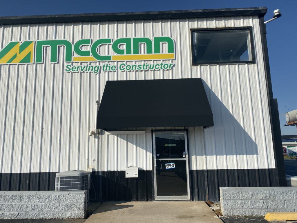 Canvas Entrance Awning at McCann Industries Opens New Location in Merrillville, IN