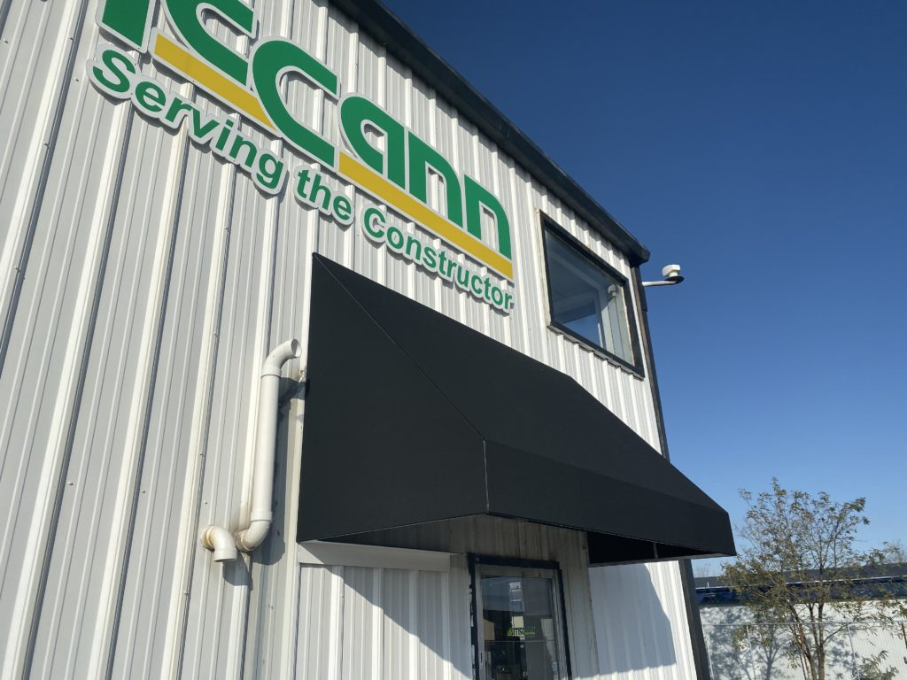 McCann Industries New Canvas Entrance Awning Project