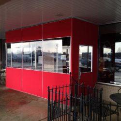 Canvas vestibule enclosure at DeMotte